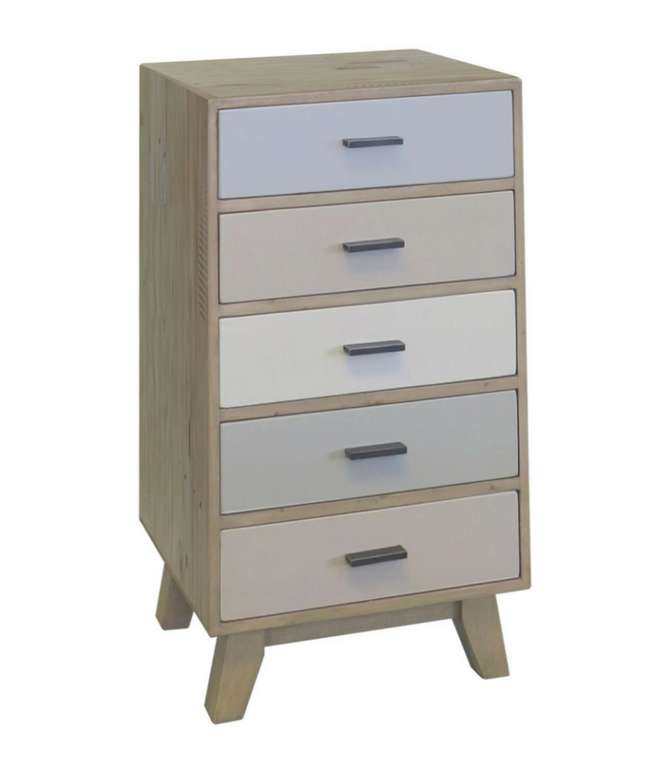 cronulla 5 drawer wellington chest