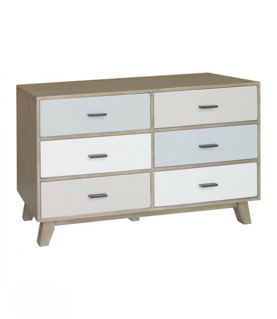 cronulla 6 drawer wide chest
