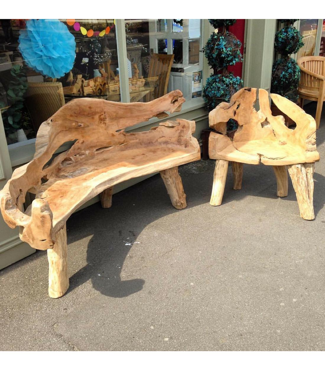 Teak Root Bench Geoff Crust Furniture